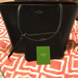Kate Spade ♠️small harmony tote and  Wristlet
